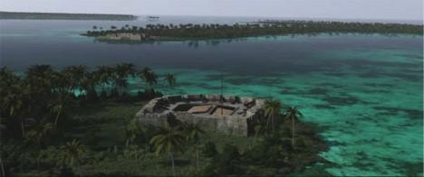 Fotograma de la reconstrucción de Cartagena de Indias